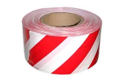 Лента оградительная красно-белая